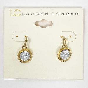 NEW LC Lauren Conrad Large Rhinestone Earrings